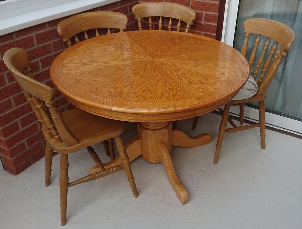 Rattan Garden Furniture, Oak Table with 4 chairs and Antique Table ...