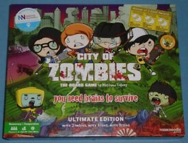 'City Of Zombies Ultimate Edition' Board Game (as new)
