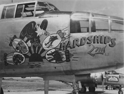 B25 Mitchell Hardships 2nd Nose Art Print WW2 WWII 5 x 7