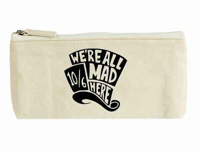 Mad Hatter Canvas cosmetic zip purse pencil Alice in wonderland pen bag - Alice In Wonderland Mad Hatter Makeup