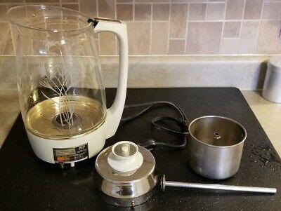 Proctor Silex 1960s Percolator Starlight Coffee Pot Glass Wheat 70151 working