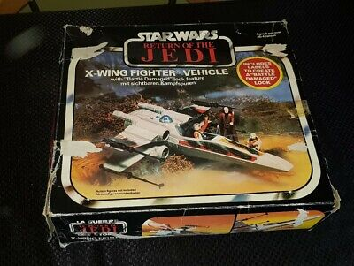 Vintage Star Wars Palitoy (1983) ROTJ X-Wing Fighter Box Only , Worn