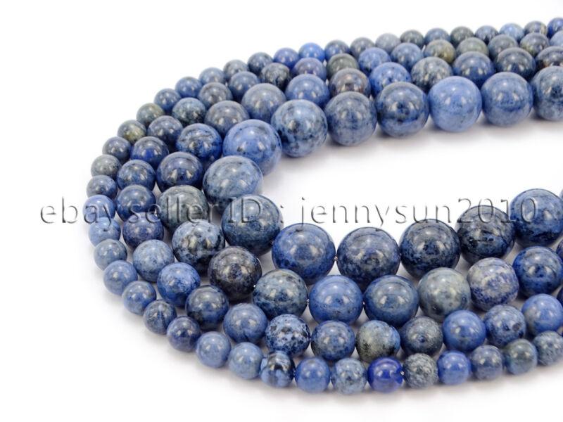 Natural Dumortierite Gemstone Round Spacer Beads 15.5