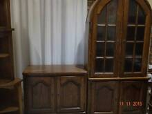 Belgium Oak Display Unit/ Cabinet/ TV Unit Woodbine Campbelltown Area Preview
