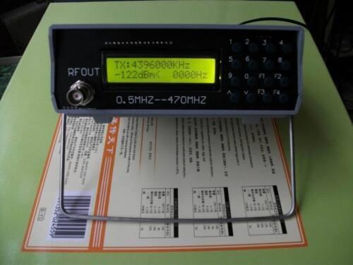0.5Mhz-470Mhz RF Signal Generator Meter Tester For FM Radio Walkie-Talkie debug