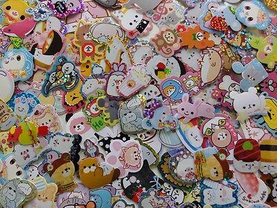 Sticker flake 100 Lot Cat Dog Pet Animal Sweet Food Gift Girl Kid + BONUS LOOK