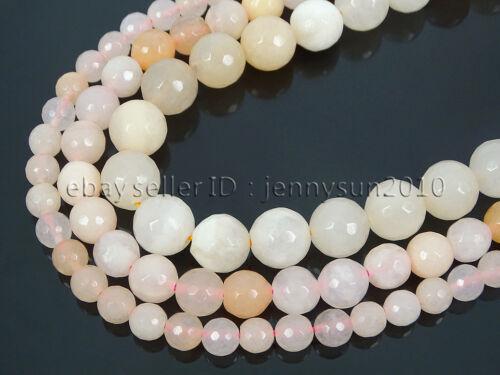 Natural Pink Aventurine Gemstone Faceted Round Beads 15