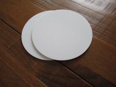 """8.25 Inch WHITE  Round Ganaching Plates Acrylic Cake Decorating Discs 8.25"""""""