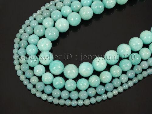Natural Brazil Amazonite Gemstone Round Spacer Beads 15