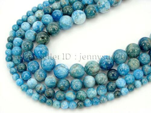 Natural Apatite Gemstone Round Beads 15.5
