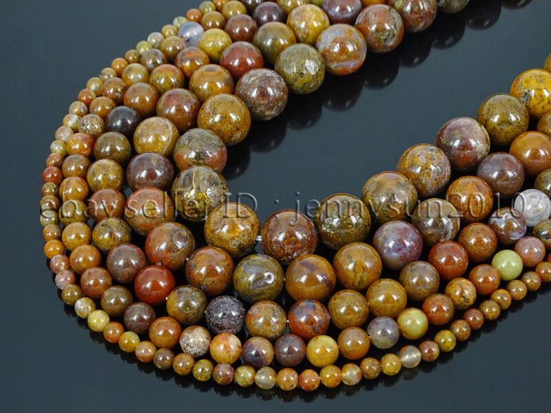 Natural Aqua Nueva Jasper Gemstone Round Spacer Beads 15