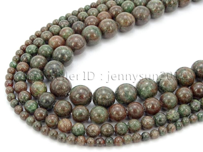 Natural Kasgar Garnet Jasper Gemstone Round Spacer Beads 15.5