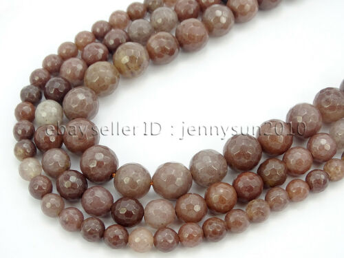 Natural Purple Aventurine Gemstone Faceted Round Beads 15
