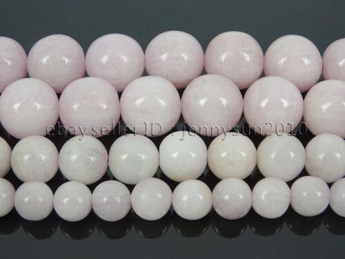 Natural Kunzite Gemstone Round Loose Spacer Beads 15