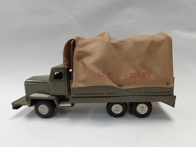VINTAGE US ARMY TOY TRUCK WITH CLOTH COVER