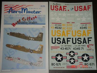 1/48 Aeromaster A-26 Marauding Invaders Pt.1 decals