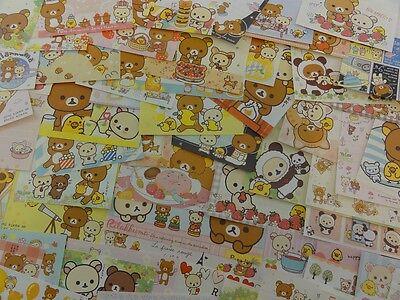 Stationery Memo Paper Rilakkuma BEAR San-X cute kawaii lot journal scrapbook