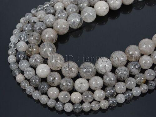 AAA Natural Tourmaline Quartz Gemstone Round Beads 15