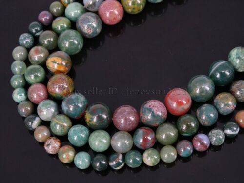 Natural Ocean Jade Gemstone Round Beads 15.5