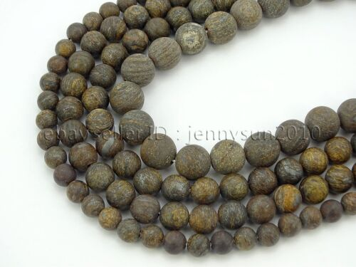 Natural Matte Bronzite Jasper Gemstone Round Beads 15.5