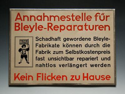 Blechschild Annahmestelle für Bleyle-Reparaturen um 1950