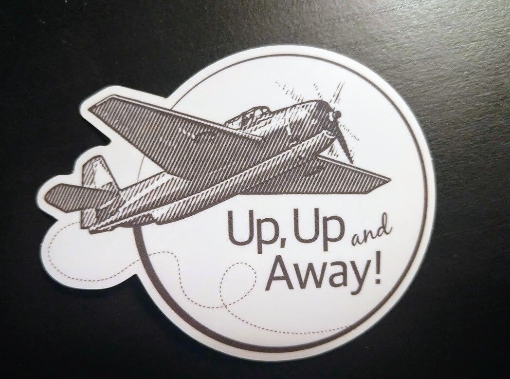 Airplane Up, Up and Away Sticker