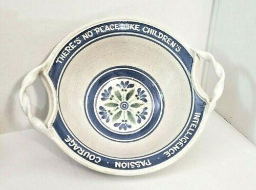 Vintage 1999 Freestone Handmade Pottery Stoneware Large Bowl Children