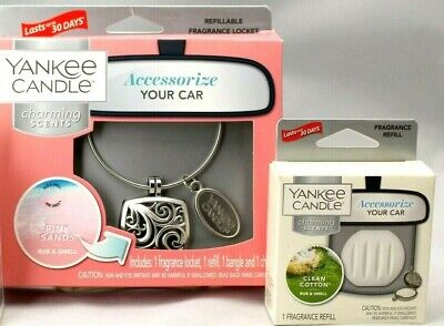 Yankee Candle Charming Scents Pink Sands Starter Kit & 1 Clean Cotton Refills