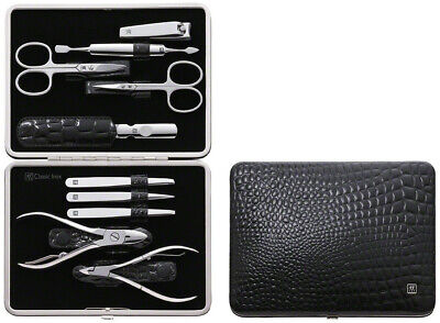 zwilling Twin Classic Inox  Case Croc with Frame manicure set (10 Pieces), Black