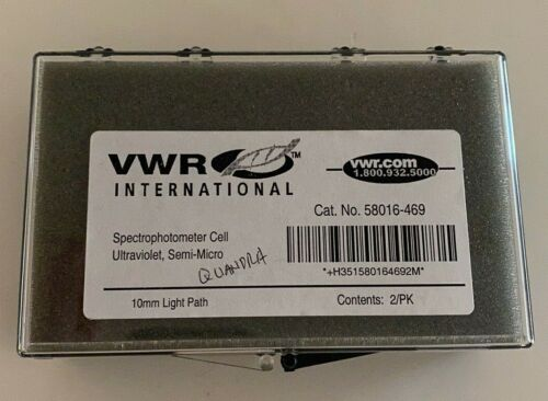 NEW - VWR Spectrophtometer Cell Ultraviolet, Semi-Micro 10mm Cuvettes #58016-469