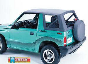 Replacement Soft Top Hood black for the Suzuki Vitara 86 - 94