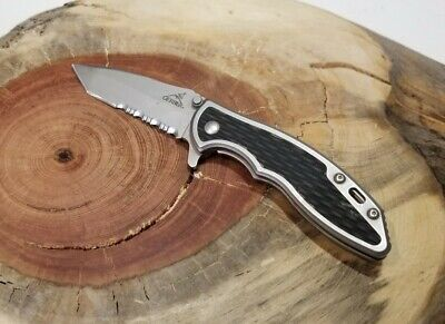 Gerber Torch 2 II Tanto EDC Serrated Combo Blade - Good Condition - C35