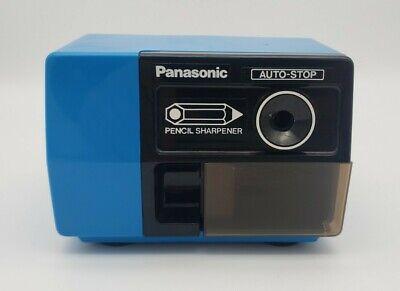 Panasonic Kp-123 Electric Pencil Sharpener Blue Auto Stop Japan Vintage
