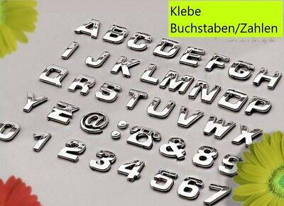 Zahlen Emblem Auto Aufkleber Auto Silber Alphabet Logo (Buchstaben Aufkleber)