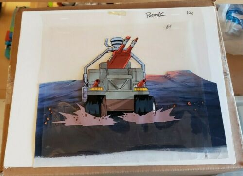 Starcom DIC Animation Cell Laser R.A.T Used Animation Art Cartoon Ships Free