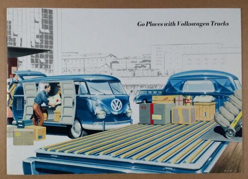 1958 1959 VW Volkswagen Trucks Pickup Panel Delivery Kombi brochure catalog