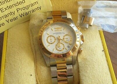 Boxed mens Invicta Speedway 9212 quartz chronograph WR200,42 mm,working