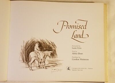 Promised Land Book Leon Uris Abba Eban Art By Wetmore, Israel Tabletop 1st ED