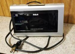 RCA Digital 2 Band AM FM Dual Wake Alarm Clock Radio RP5435C - Good Condition