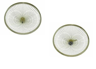 """Gold 20"""" x 1.75 Bicycle WheelSet Front/Rear 144 Spokes Lowri"""