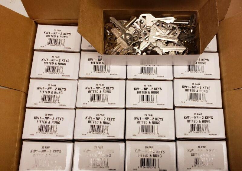 1000 Ilco Kwikset KW1-NP-Bitted & Rung Keys-Cut Blanks-Code