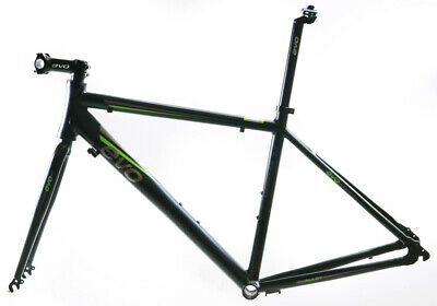 EVO Vantage 5.0 52cm Medium Aluminum Road Bike Frameset Fork + Extras Black NEW
