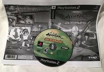 Sony PS2 video game  BACKWARD COMPATIBLE w/ PS3 AVATAR LAST AIRBENDER BURN Earth