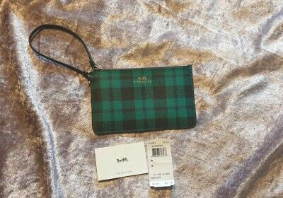 Coach Purse Wallet With Wrist Strap Wristlet riley plaid  new with dust bag