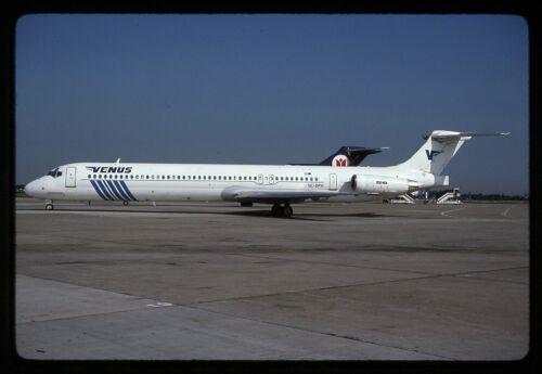 Venus Airlines McDonnell Douglas MD-83 SE-DPH Kodachrome Aircraft Slide/Dia