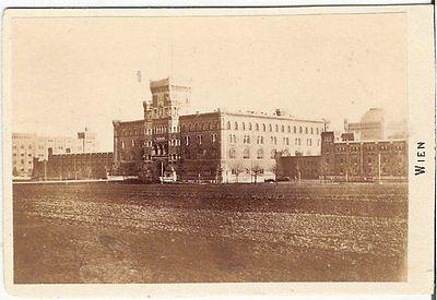 CDV photo Historische Gebäudeansicht in Wien - 1870er