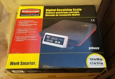 Rubbermaid Commercial Products Digital Receiving Scale New Pelouze 150 Lbs