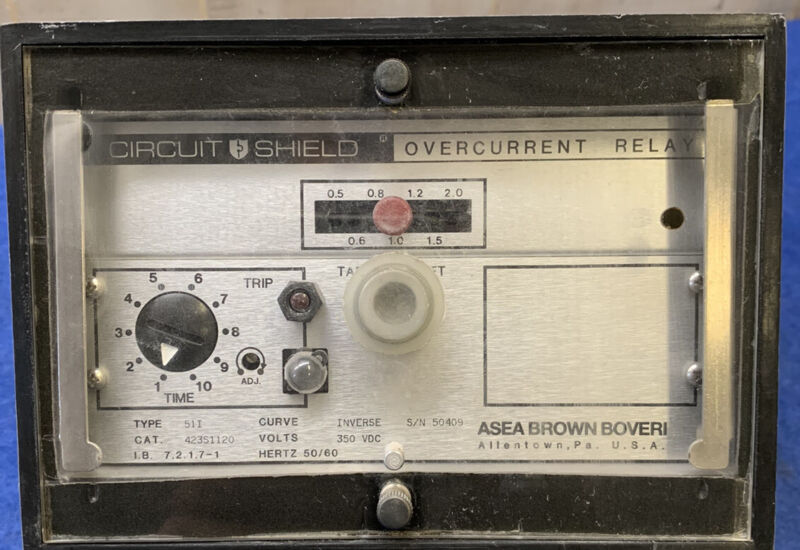ASEA BROWN BOVERI Circuit Shield Overcurrent Relay Used Free Shipping