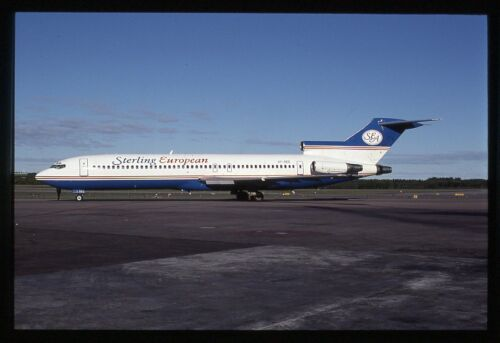 Sterling European Boeing 727-200 OY-SEZ Kodachrome Aircraft Slide/Dia