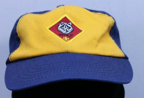 Boy Scouts of America Cub Scout Wolf Hat Cap Adjustable Snapback Youth USA made